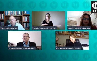 Núcleos de EaD que compõem UVPR apresentam suas experiências em mesa redonda do Virtuel