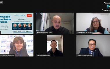 CRM, CRP, CRF e Coren do PR abordam especificidades da telessaúde em painel virtual