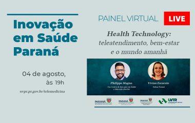 Health Technology é assunto de painel virtual