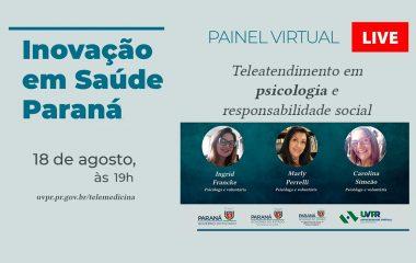 Painel discute voluntariado na pandemia por meio do exemplo do teleatendimento em psicologia