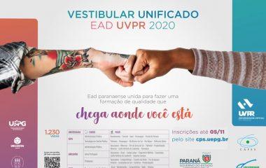 Universidades divulgam orientações sobre matrículas no Vestibular Unificado EaD UVPR